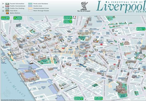 printable map liverpool city centre liverpool sightseeing map