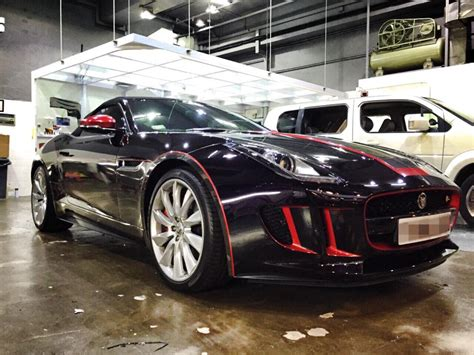 jaguar f type custom jaguar f type gets custom chrome wrap