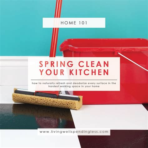 green thrifty cleaning products living well spending less 174 spring clean your kitchen refresh deodorize surfaces