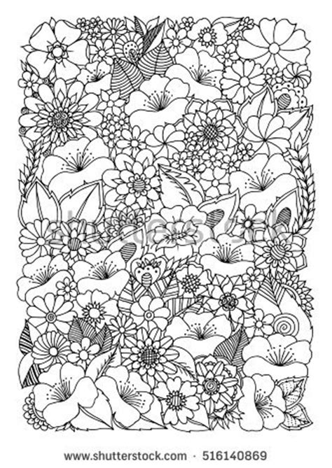 anti stress coloring book dubai vector illustration zentangl picture flowers coloring