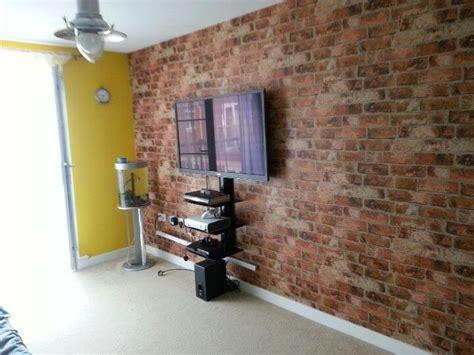 brick wallpaper living room 157 best brick wallpaper images on