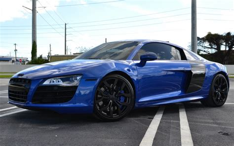Audi R8 Blue And Black   www.imgkid.com   The Image Kid