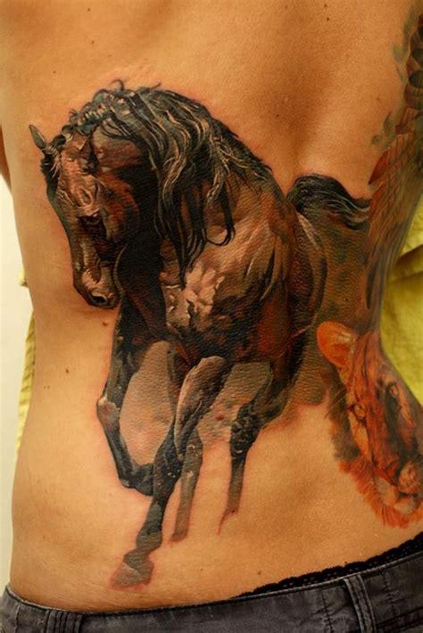 Tattoo Horse Back | 35 awesome realistic tattoo designs amazing tattoo ideas
