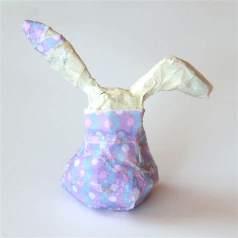 How To Make A Paper Mache Rabbit - diy paper mache bunnies world of pineapple