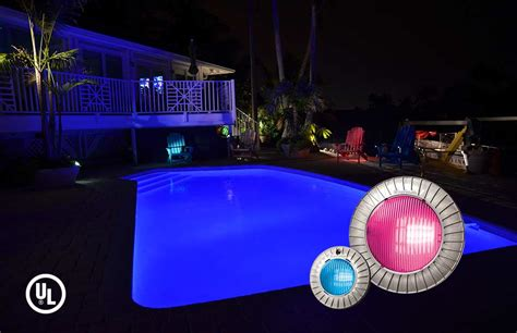 hayward led pool light pool spa and backyard lights information in ground pool
