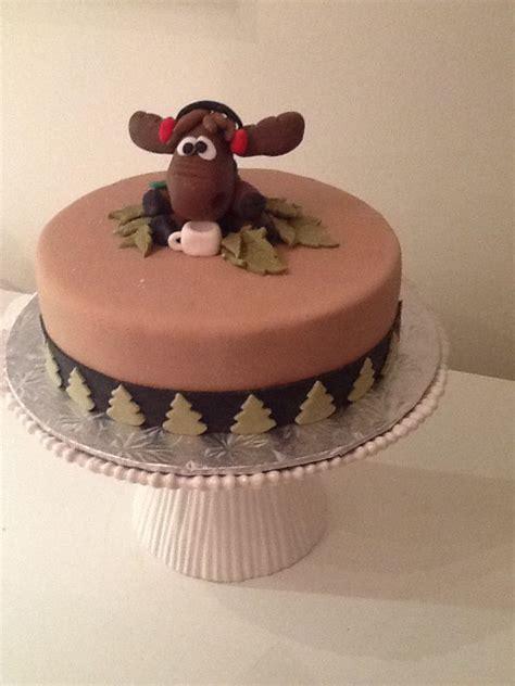 moose themed cake  fondant moose cakes pinterest themed cakes fondant  cake