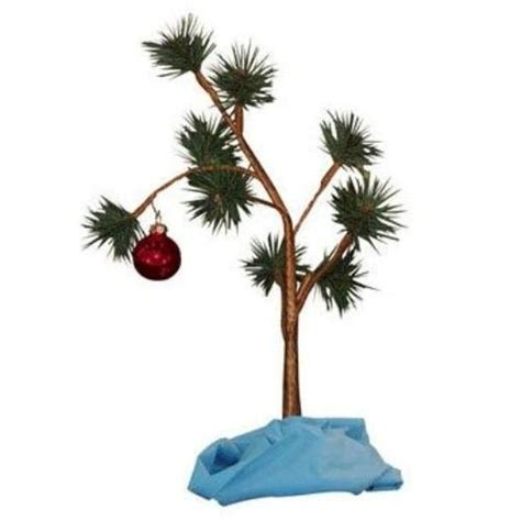charlie brown christmas tree with linus blanket just 13