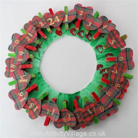 Handmade Advent Wreath - advent calendar goodness