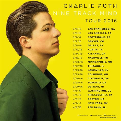 charlie puth hong kong charlie puth sets quot nine track mind quot 2016 tour dates