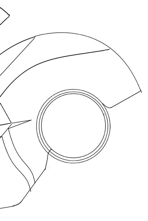 iron helmet template iron helmet partial template for sintra