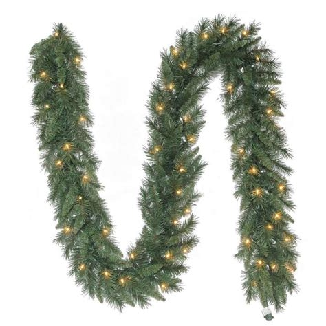 holiday living pre lit 9 ft l pine garland lowe s canada