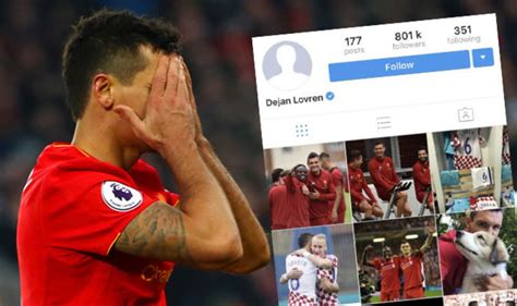 bio for instagram about football liverpool news dejan lovren deletes reds from instagram