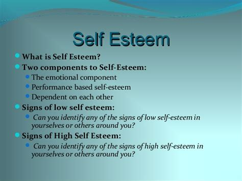 what is selves workshop 5 self esteem and stress