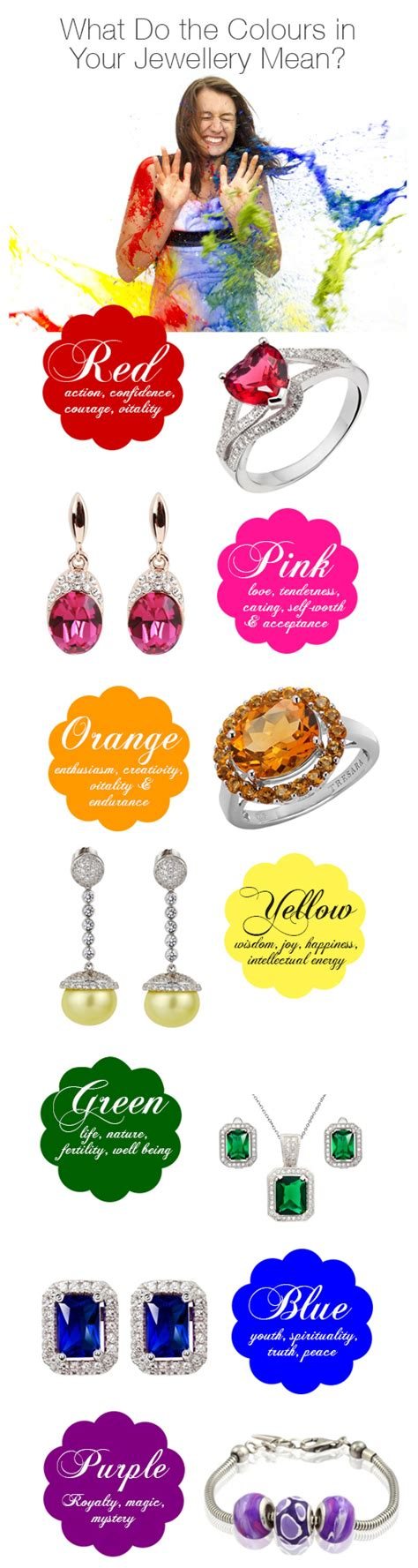 what do colours mean what do the colours in your jewellery mean visual ly