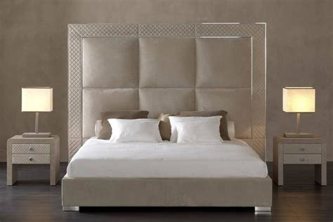 bronze headboard sigma bed with low headboard leather upholstery bronze or