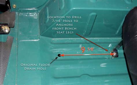 fj40 bench seat bench seat installation 79 84 fj40 bj40