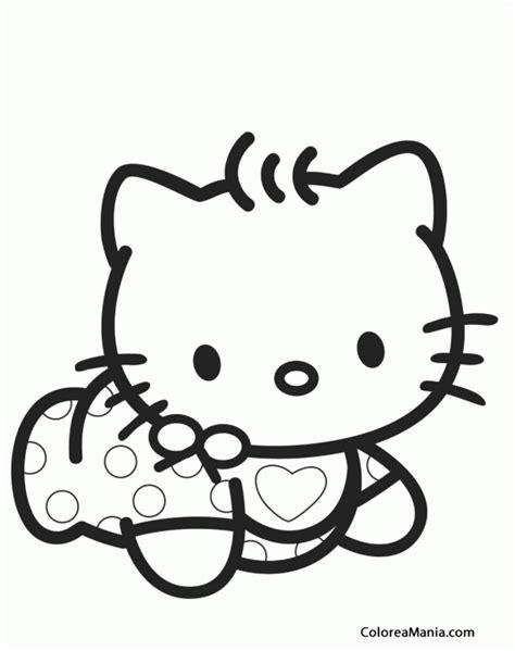 imagenes hello kitty bebe colorear kitty de beb hello kitty dibujo para colorear