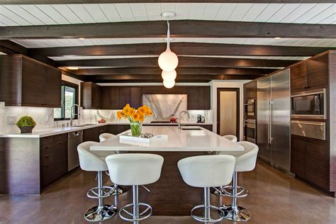mid century modern design for kitchens and bathrooms