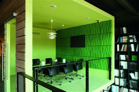 formal factory turned   colorful office  showroom
