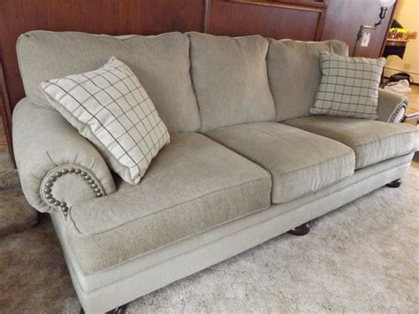 large sofa pillows ashley large couch with 2 throw pillows