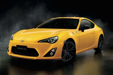 yellow toyota gets this cool toyota 86 yellow limited edition