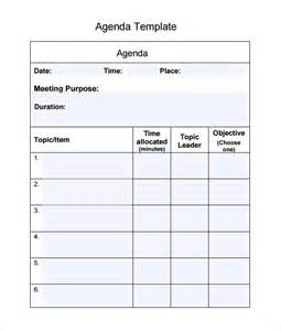simple meeting agenda template word sle agenda 6 documents in word pdf