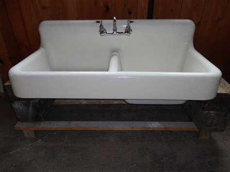 Reclaimed Kitchen Sinks Antique Cast Iron Farm Farmhouse Kitchen Sink W Apron