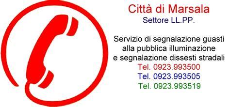 segnalazione guasti illuminazione pubblica comune di marsala servizi servizo di segnalazione guasti