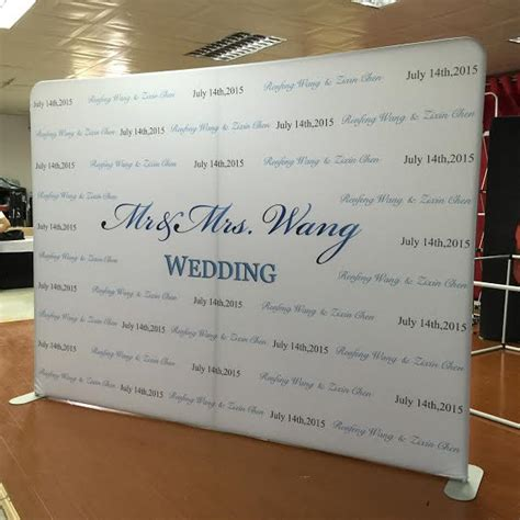 Wedding Backdrop Design For Photo Booth by Logo Walls For Weddings
