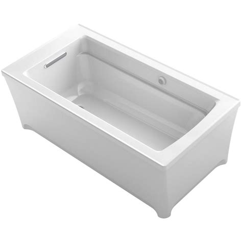 home depot kohler bathtub kohler archer 5 ft freestanding air bath tub in white k
