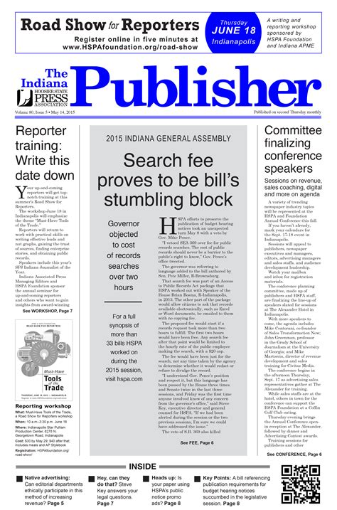 put experience to work for hspa hoosier state press association the indiana publisher may 2015 hoosier state press