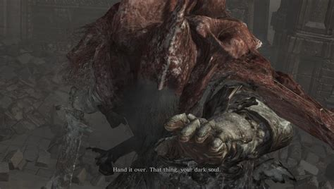 slave knight gael boss amp rewards in dark souls 3 ringed city