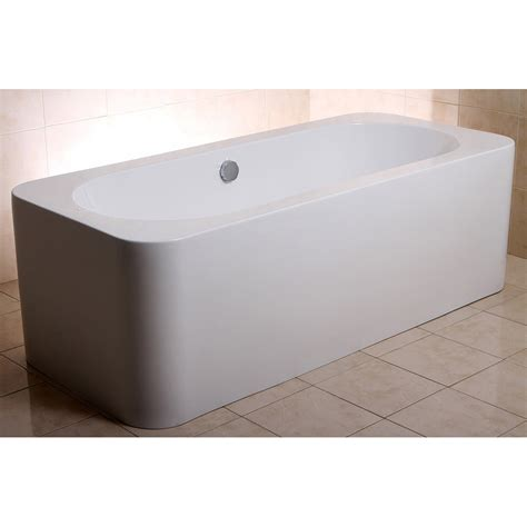 Alcove Bathtub | modern white rectangular kiran drop in alcove bathtub