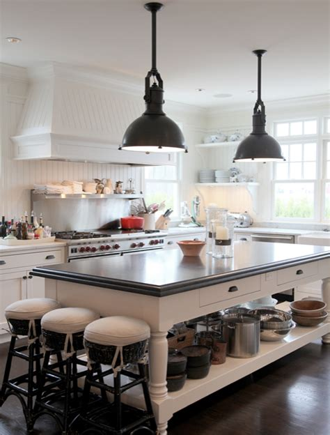 big island kitchen 10 industrial kitchen island lighting black beadboard backsplash design ideas