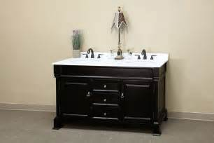 Bathroom Vanity With Top And Mirror - bellaterra home bathroom vanity antique espresso finish white marble top