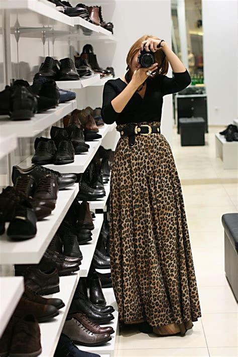 high waisted leopard print maxi skirt mountains clothes