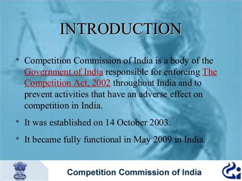 Competition Act 2002 Notes For Mba by Competition Commission Of India