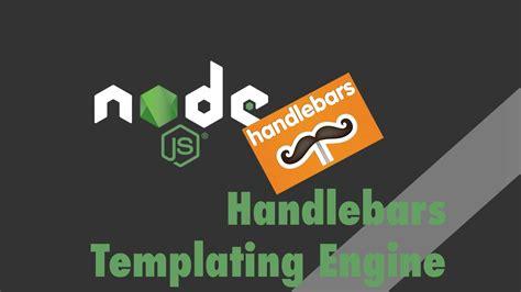 node js express tutorial handlebars templating engine