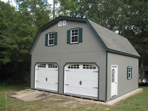 Gambrel Roof Garages by Amish 20x20 Double Wide Garage Gambrel Roof Structure Ebay