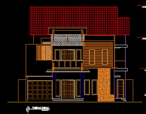 gambar kerja desain ruko dan rumah