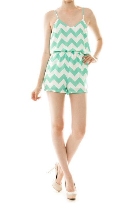 Chevron E Gift Card - romper weekend getaway chevron print cami mint romper sincerely sweet boutique