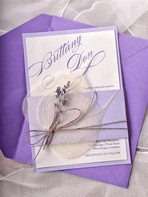 wedding invitation custom custom listing 100 lavender wedding invitations cards