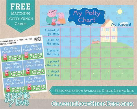 printable reward charts peppa pig peppa pig potty training chart free punch cards nick