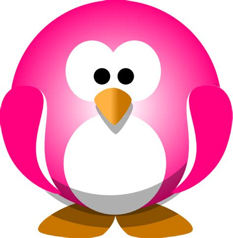 pink penguin clip at clker vector clip