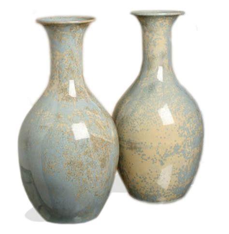 Pale Blue Vase by Arles Classic Pale Blue Gray Stoneware Reactive Glaze Vase