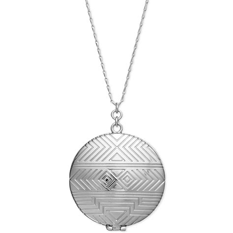 House Of Harlow Jewelry by House Of Harlow 1960 Silver Tone Tribal Locket Necklace In