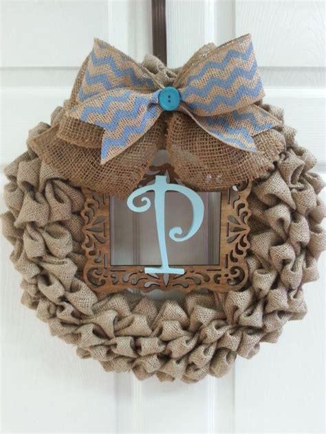 burlap wreath burlap wreath burlap chevron initial door decor