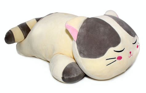 stuffed cat pillow vintoys soft cat big hugging pillow plush kitten