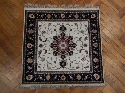 3x3 Rug by Square Silk Carpet Handmade 3x3 Rug Tabriz Design Ebay