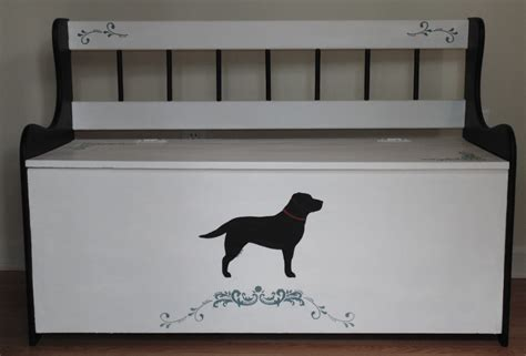 bench labrador labrador signs pets painted by dina